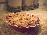Deep Dish Peach Pie with Streusel Topping